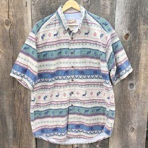 Woolrich Western Forest Animal Print Dad Shirt, XL